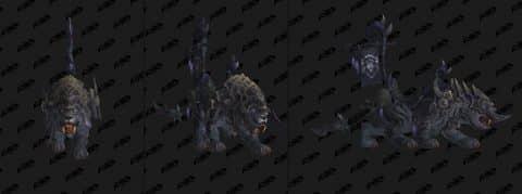 Новые маунты в патче WoW 8.1 - Яростные боевые саблезубы
