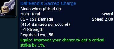Dal'Rend's Sacred Charge